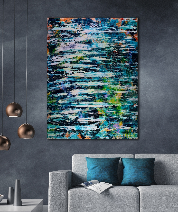 Behind the secrets (2018) abstract art Acrylic painting by Nestor Toro