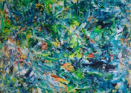 """SOLD - Shades of Green """"Another Rain-forest Dream"""" by Nestor Toro"""