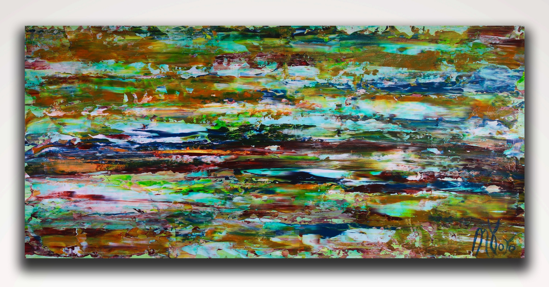 Earthy Spectra (2018) abstract art Acrylic painting by Nestor Toro