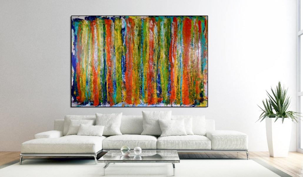 SOLD - Fearlessness (room view) by Nestor Toro