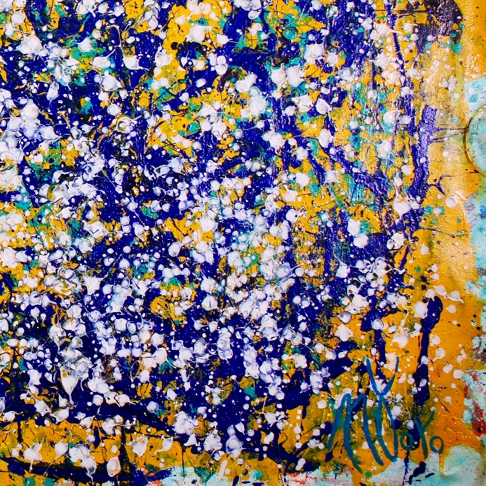Shimmering Lights (In Paradise) (2017) abstract expressionist Acrylic painting by Nestor Toro