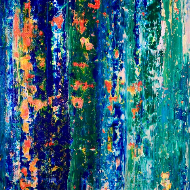 Landscape expressions No.2 (2018) expressionistic Acrylic painting by Nestor ToroLandscape expressions No.2 (2018) expressionistic Acrylic painting by Nestor Toro