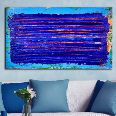 Under blue night light (2018) Abstract Acrylic painting by Nestor Toro
