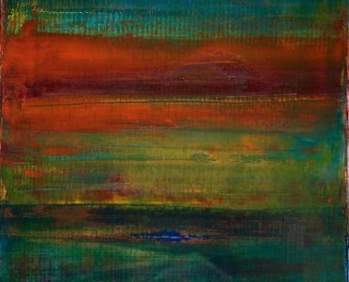 SOLD - Panorama Esmeralda (2017) abstract Acrylic painting by Nestor Toro