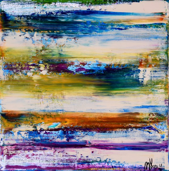 SOLD Abstract painting - Canyons by Los Angeles artist Nestor Toro