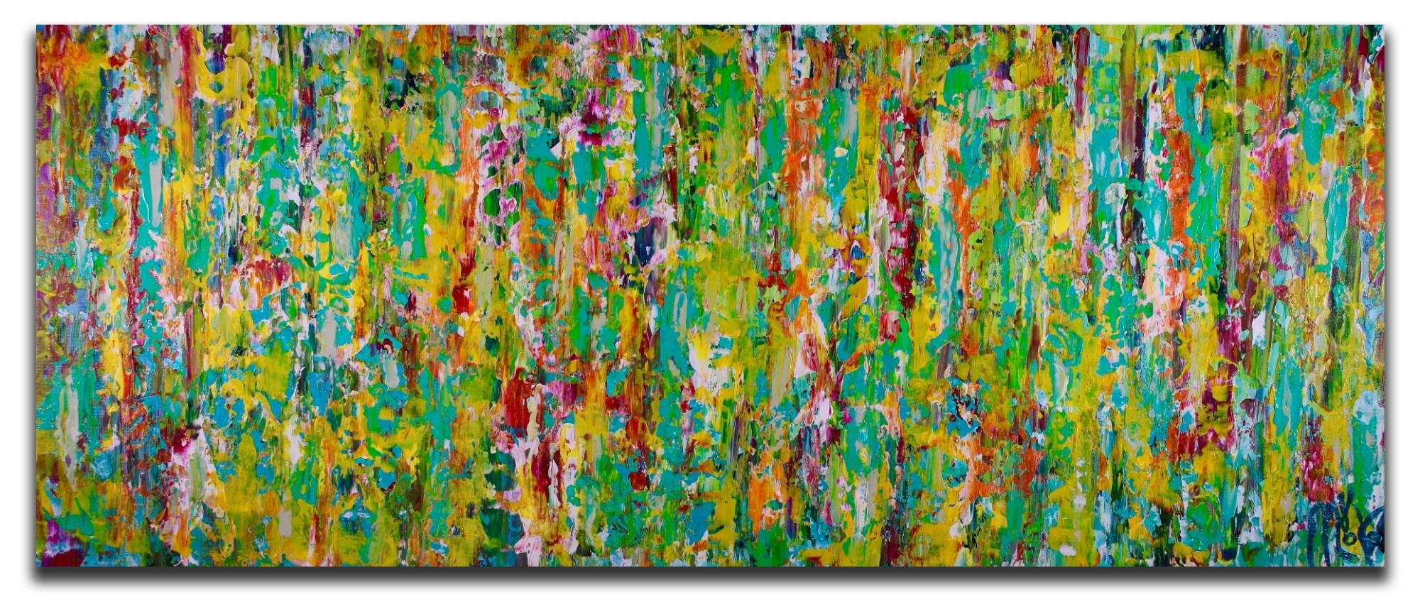 Secret frenzy (2018) Expressionistic Acrylic painting by Nestor Toro