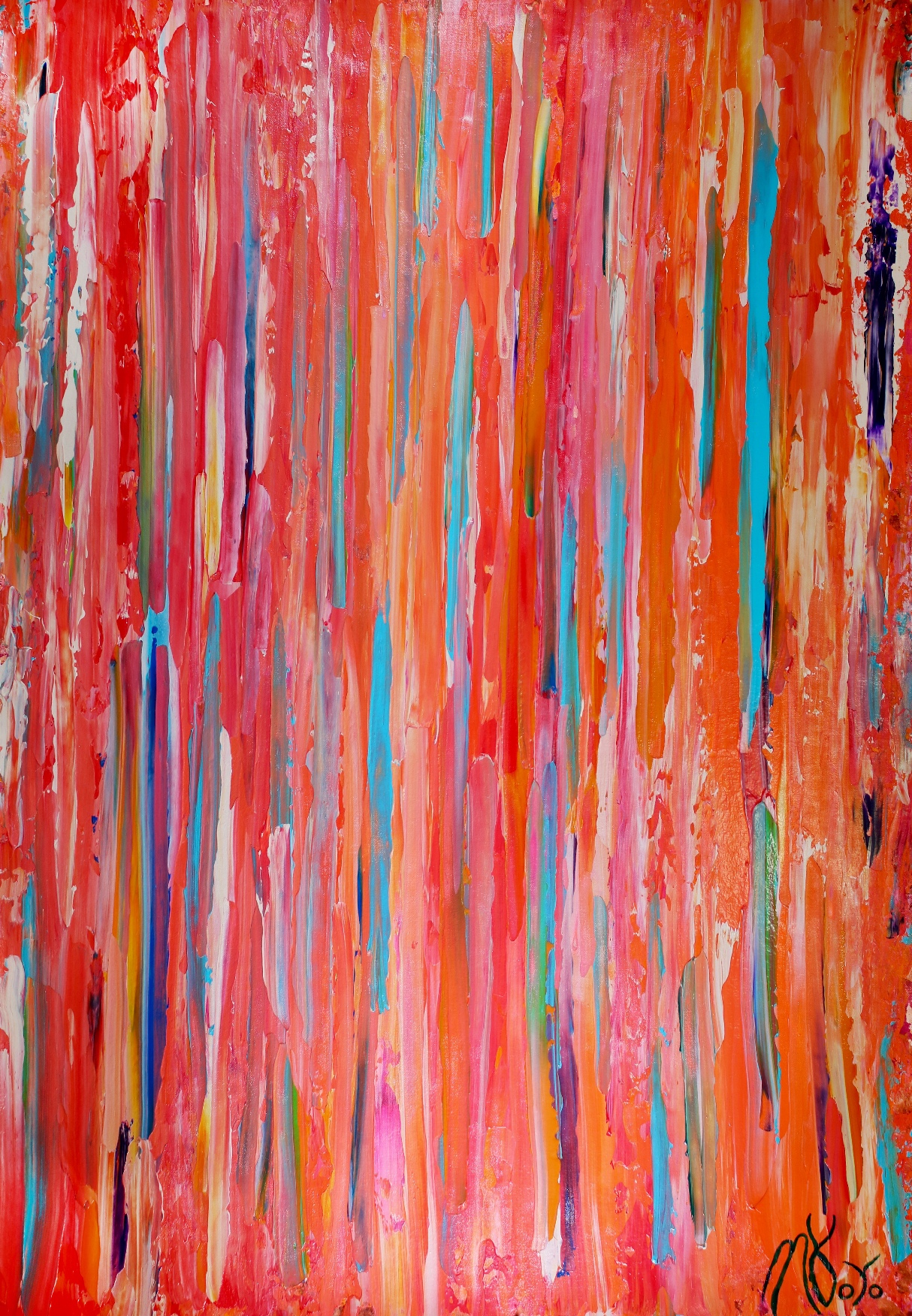 Too Many Experiences To Remember (2018) Abstract Expressionist Acrylic painting by Nestor Toro