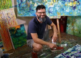 Los Angeles abstract painter - Nestor Toro
