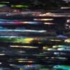 Long exposure in Santa Monica Blvd. (2018) Abstract Acrylic painting by Nestor Toro