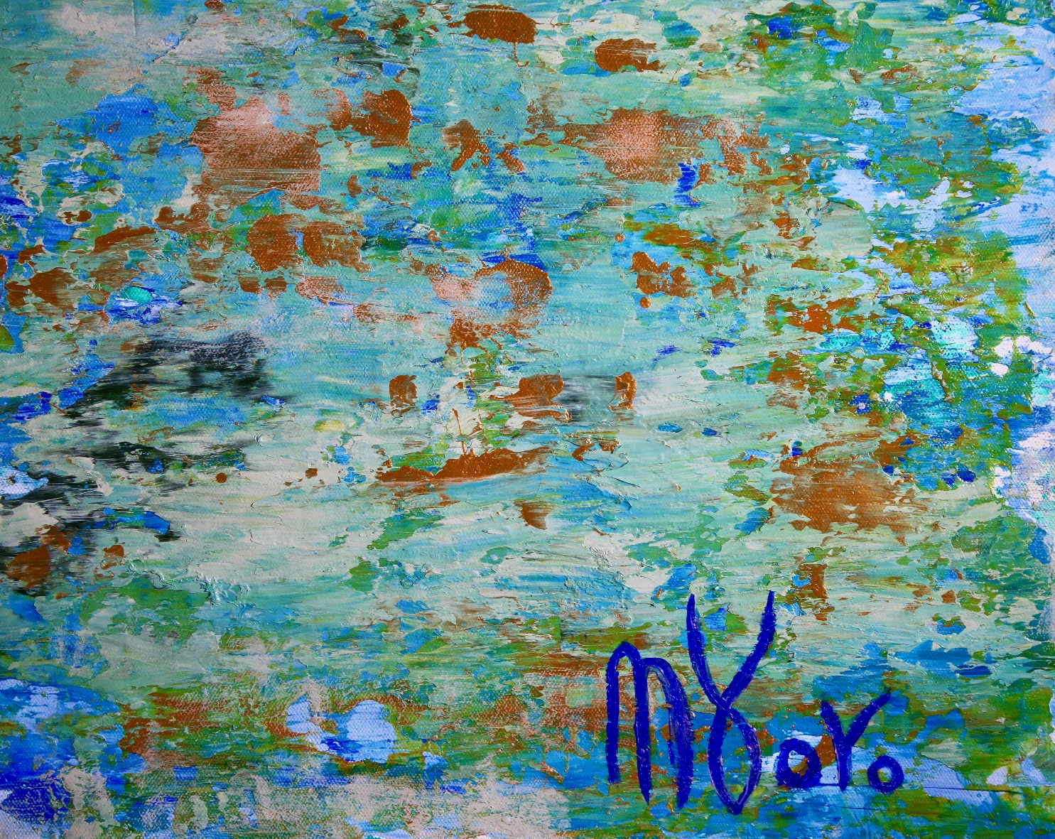 Close Up / Verdor Claro (A romance with green 2) (2018) Acrylic Acrylic painting by Nestor Toro