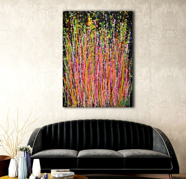 Consciousness Garden (2018) Abstract Acrylic painting by Nestor Toro