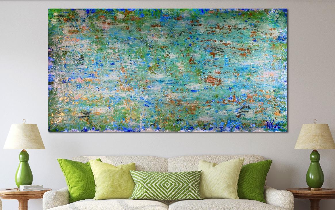 Verdor Claro (A romance with green 2) (2018) Acrylic Acrylic painting by Nestor ToroVerdor Claro (A romance with green 2) (2018) Acrylic Acrylic painting by Nestor Toro