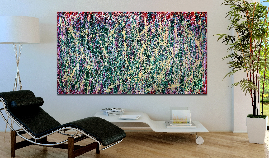 Perpetual Motion (Detour) (2018) Abstract Acrylic painting by Nestor Toro