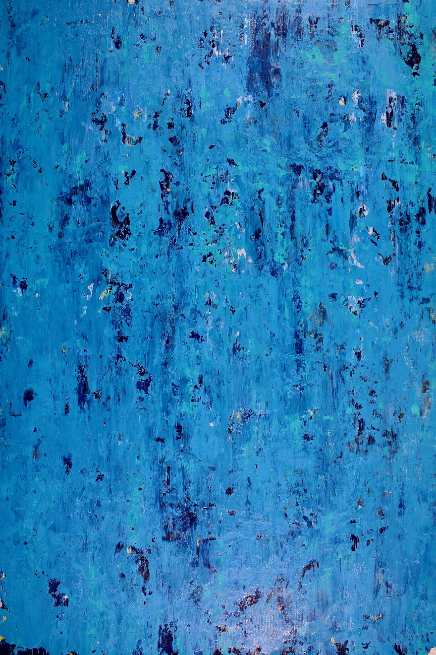 Alma Azul (2018) Abstract Acrylic painting by Nestor Toro