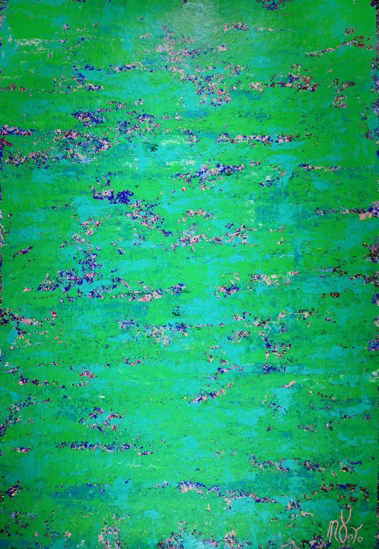 Full Image / Emerald Spectra by Nestor Toro (2019) 70 x 48 inches