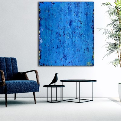 SOLD - Alma Azul (2018) Abstract Acrylic painting by Nestor Toro