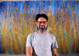 Artist and SOLD Painting - A Closer Look (Drizzles Delight) – NEW SERIES 2019 by Nestor Toro