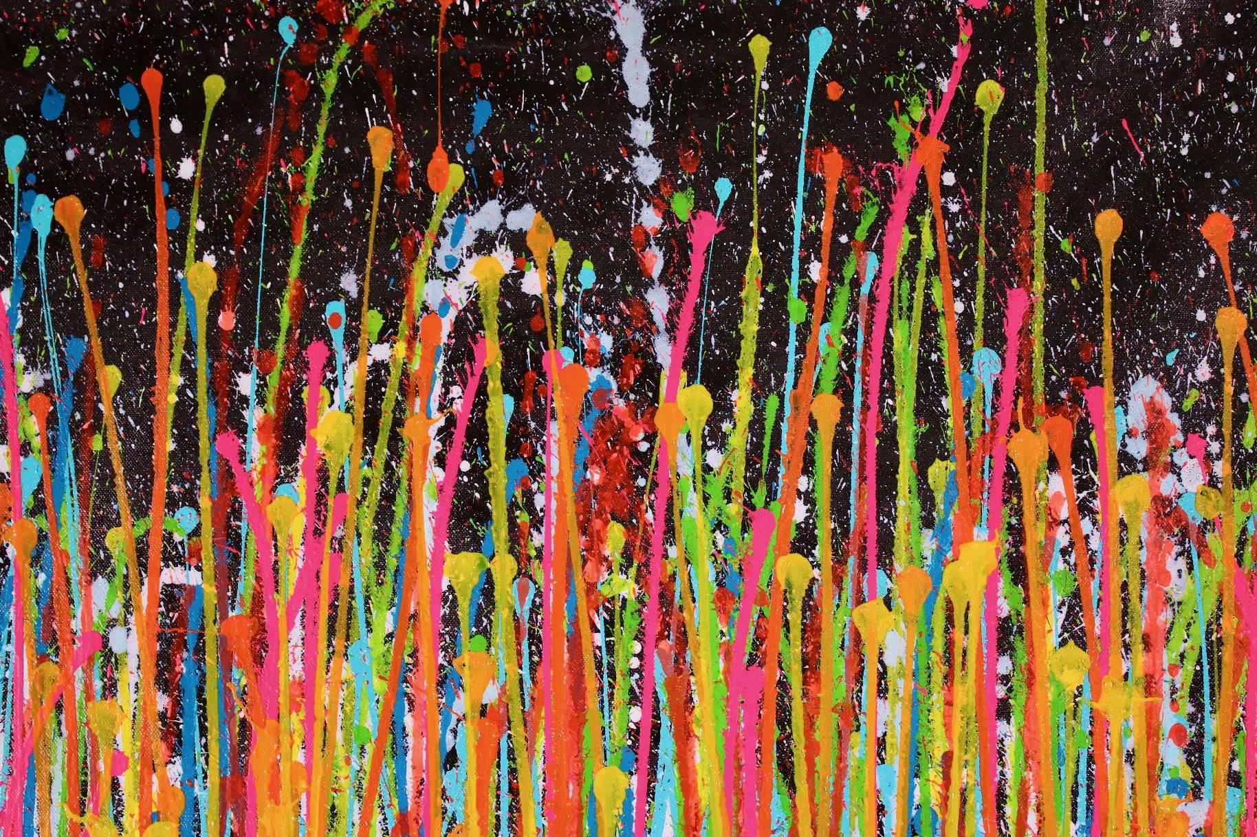 Consciousness Garden 2 - (2019) Abstract Acrylic painting by Nestor Toro