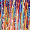 SOLD / Detail - Interrupted Garden (Color Blast) Diptych by Nestor Toro