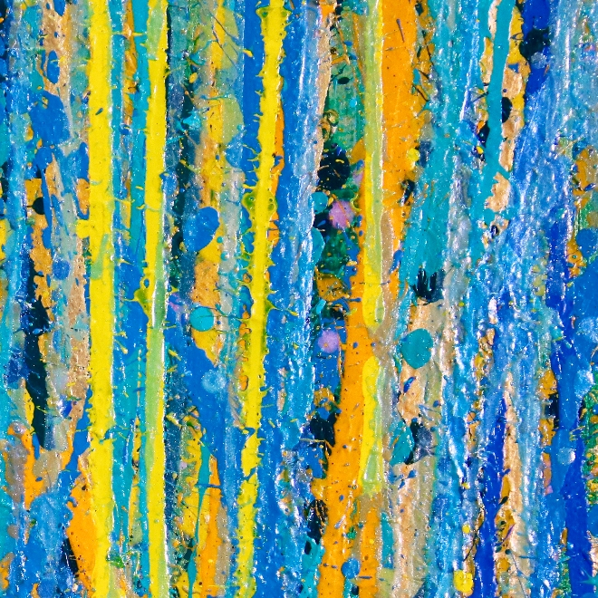 DETAIL - Under the morning sun - abstract painting by Nestor Toro