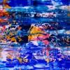 DETAIL- Island coast (Tide Pools) (2019) Abstract Acrylic painting by Nestor Toro