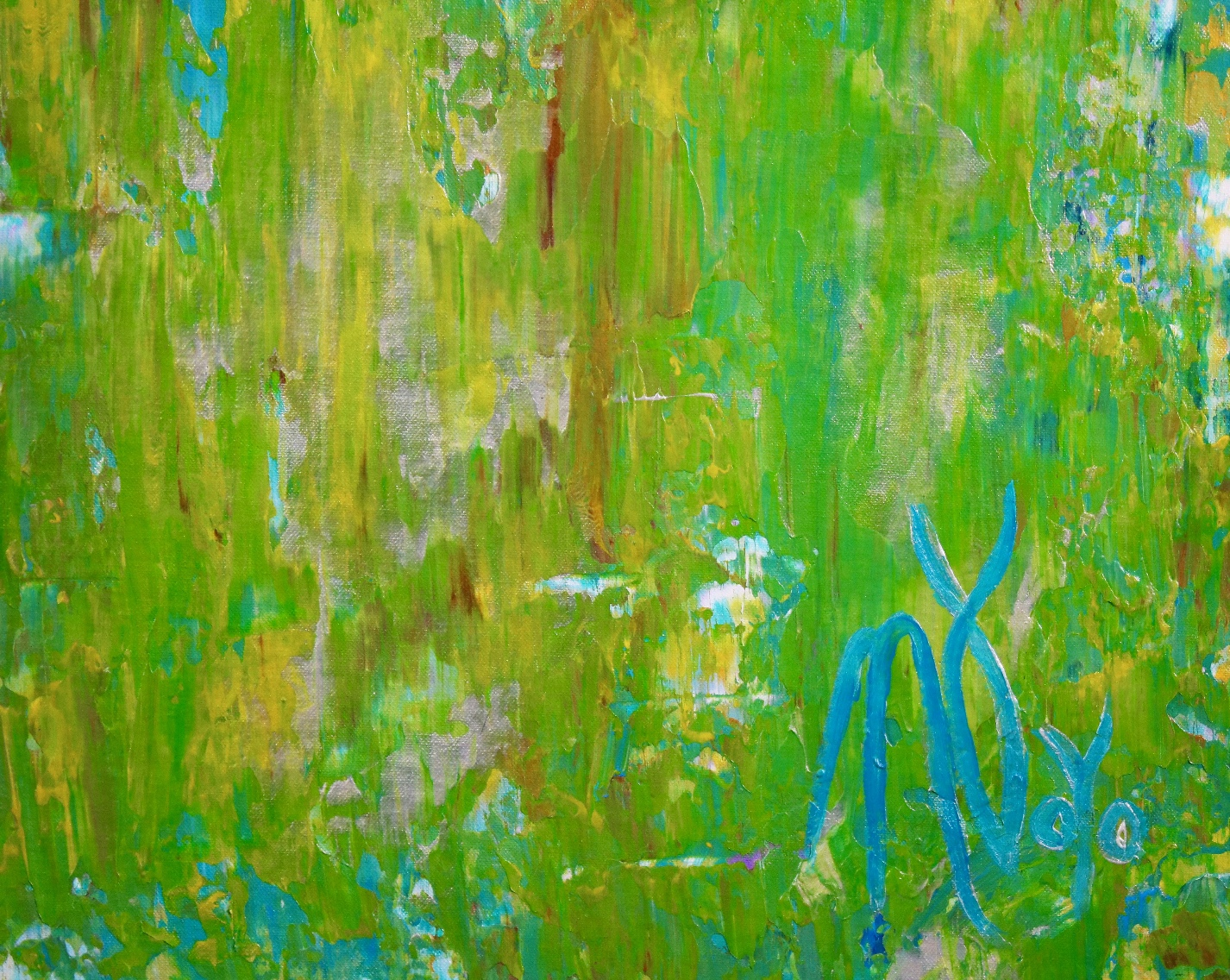 Detail View - Consciousness forest spectra by Nestor Toro (2019) 79 x 37 inches
