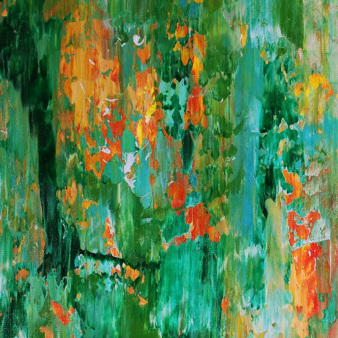 A closer look (forest affairs) by Nestor Toro (2019) Abstract Acrylic painting L.A.