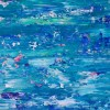 SOLD - Blue Satin Waves by Nestor Toro