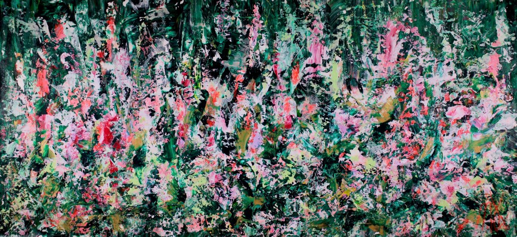SOLD ABSTRACT PAINTING - A Closer Look (Blooms in Unison) by Nestor Toro (2019)
