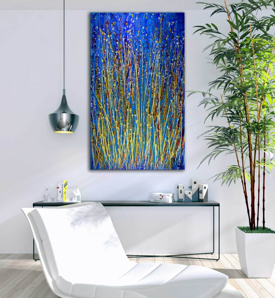 Color Contemplation Over Blue by Nestor Toro - SOLD