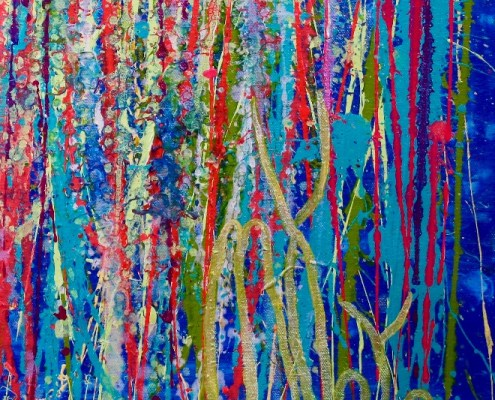 A closer look (Shimmering paradise) by Nestor Toro (2019) Abstract Acrylic painting by Nestor Toro
