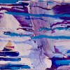 Painting Detail - Heading To The West Coast - XXL Abstract by Nestor Toro