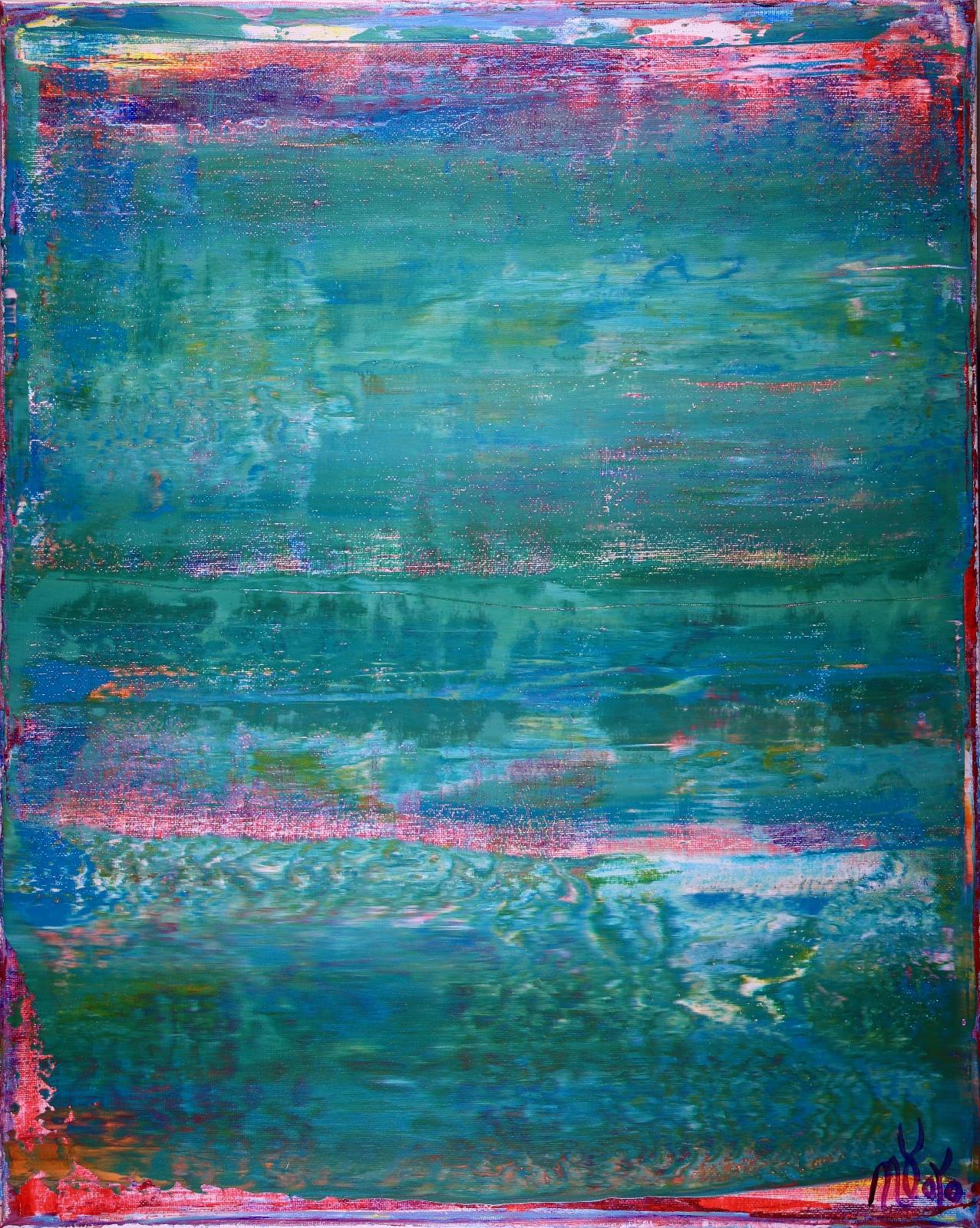 SOLD - Shades of Aqua Green (2019) by Nestor Toro