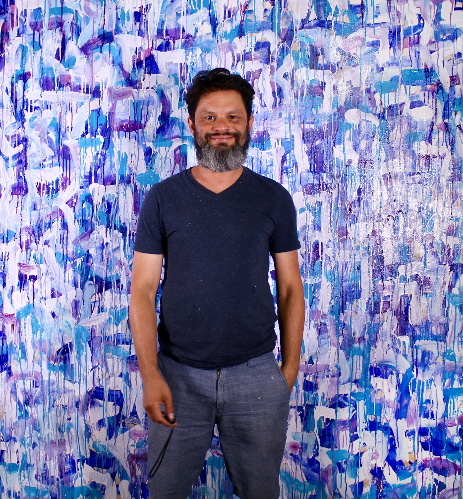 Artist with new work - Heading To The West Coast - XXL Abstract by Nestor Toro