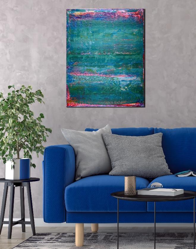Room View - Shades of Aqua Green by Nestor Toro