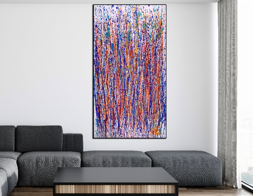 Room View - Thoughts over the Pacific ocean by Nestor Toro (2019) Size: 36 x 69 inches