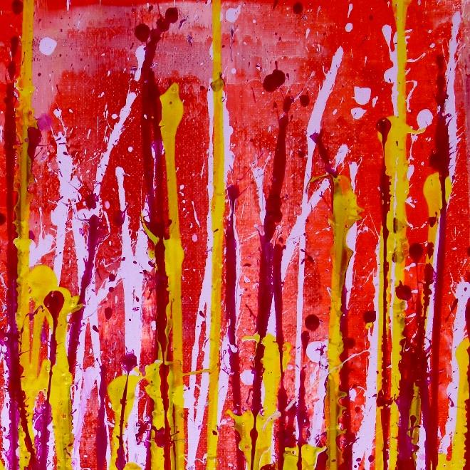 Detail - Small Vibrations (Red Garden) by Nestor Toro (2019)