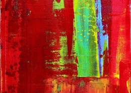SOLD - Greener Grass (Red Skies) by Los Angeles painter Nestor Toro