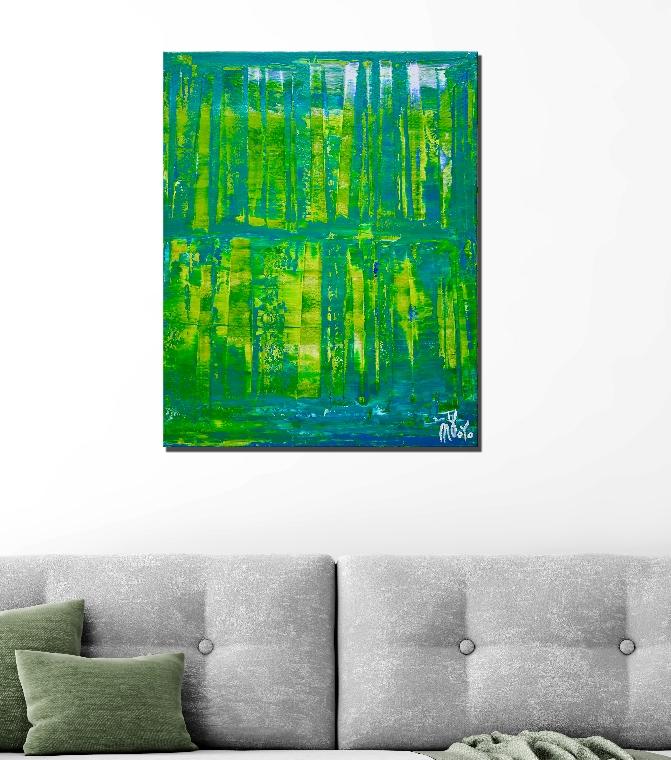 Dimensional Green 3 by Nestor Toro / Los Angeles 2019