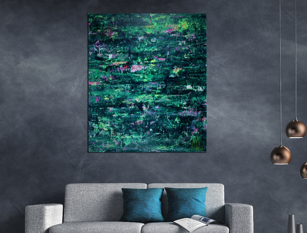 SOLD - Green Forest Frenzy by Nestor Toro 2019 Los Angeles