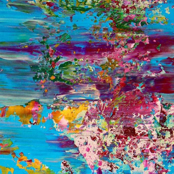 Detail - Celeste Terrain (Amethysts reflections) by Nestor Toro