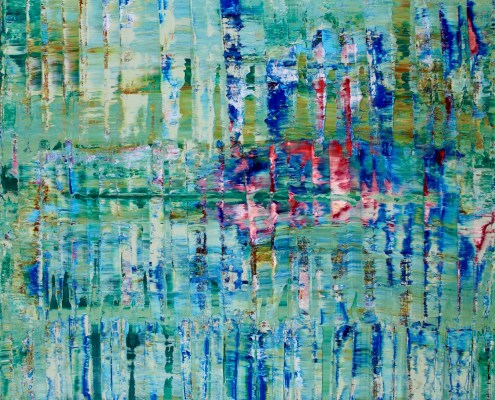 Aqua Terrain ( Green Reflections) by Nestor Toro (2019)