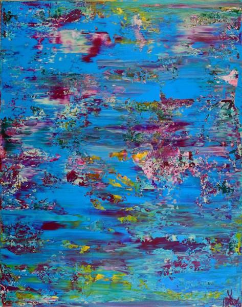 SOLD - Celeste Terrain (Amethysts reflections) by Nestor Toro