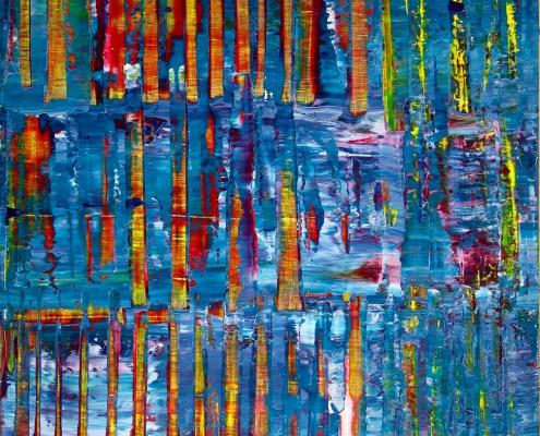 SOLD - Cracks and blinding lights by Nestor Toro (2019)