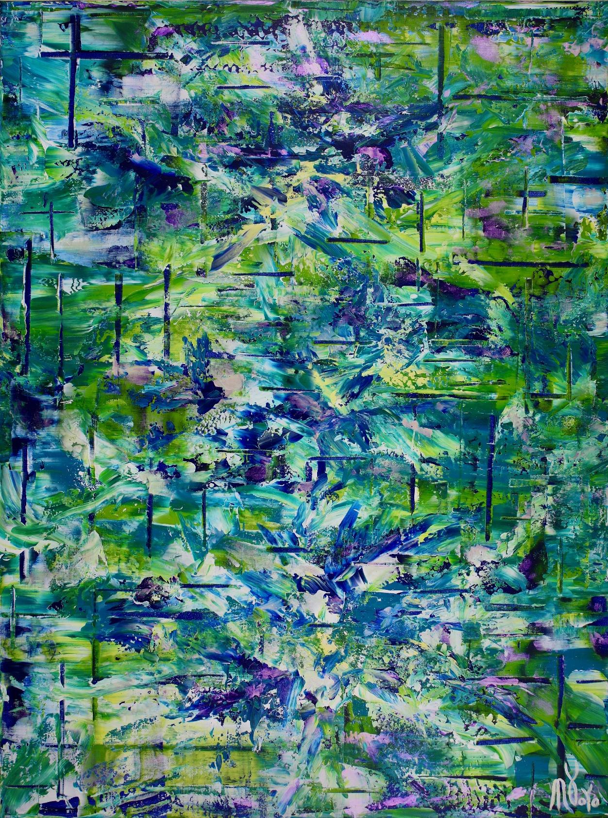 Terra Verde ( forest infinity) by Nestor Toro (2019) Abstract Acrylic painting by Nestor Toro
