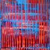 Orange and blue with light by Nestor Toro - Los Angeles