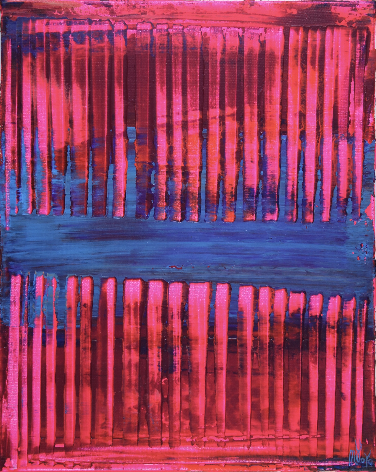 Pink and Blue (Visible lights) by Nestor Toro - Los Angeles