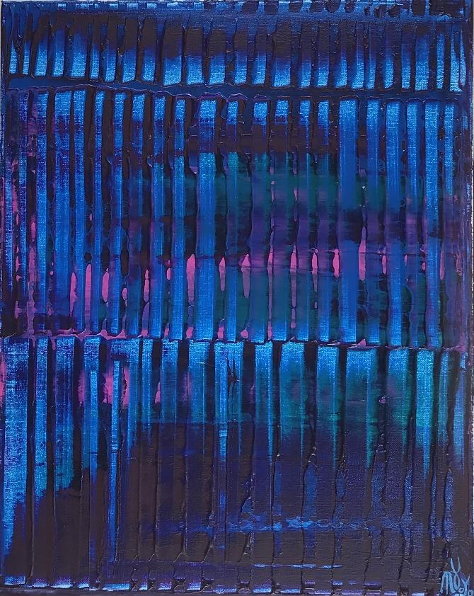 Full Canvas - Nighttime lights by Nestor Toro - Los Angeles