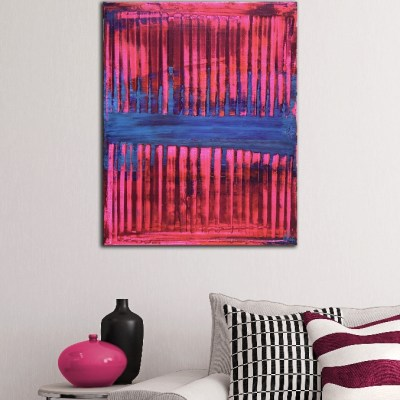Room View - Pink and Blue (Visible lights) by Nestor Toro - Los Angeles