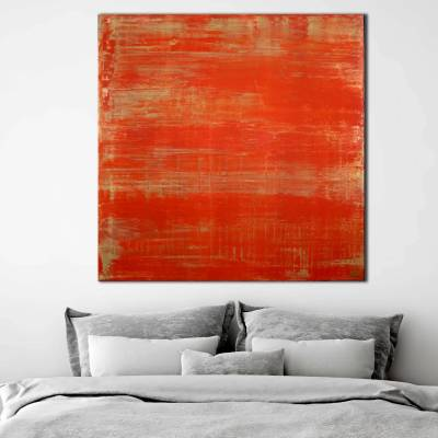 SOLD - Sunset paradise 4 (Metallic orange spectra) Painting by Nestor Toro